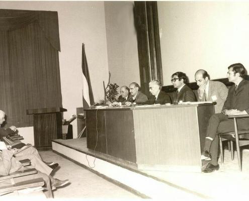 تصویری از اولین کنفرانس ریاضی ایران 10-12 فروردین 1349 در دانشگاه شیراز (دبیر: آقای دکتر جواد بهبودیان)